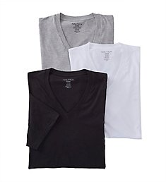 Nautica 100% Cotton V Neck T-Shirts - 3 Pack N60310
