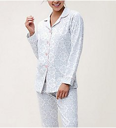 BedHead Pajamas Gray Malibu Tiles Long Sleeve PJ Set 292120