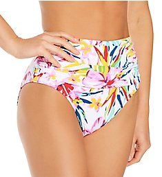 Bleu Rod Beattie Beachy Keen Shirred High Waist Swim Bottom B21915