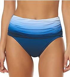 Bleu Rod Beattie Hola Ombre Shirred High Waist Brief Swim Bottom H18902