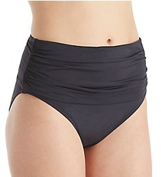 Bleu Rod Beattie Kore Shirred High Waist Brief Swim Bottom K18916