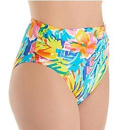 Bleu Rod Beattie Bloom In Love High Waist Shirred Brief Swim Bottom L19915
