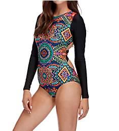 Body Glove Karma Slay Long Sleeve One Piece Swimsuit 479762