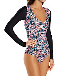 Body Glove Amy Chloe Long Sleeve Paddle One-Piece Swimsuit 550754