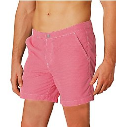Boto Rio Tailored Fit Check Swim Trunk w/ Support Liner 71516