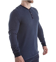 Bread and Boxers Men's Long Sleeve Thermal Henley BNBUS316