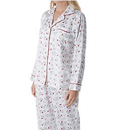Carole Hochman Brushed Back Satin PJ Set 1591045