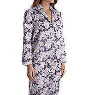 Carole Hochman Blooming Brushed Back Satin Long Pajama Set 181253F