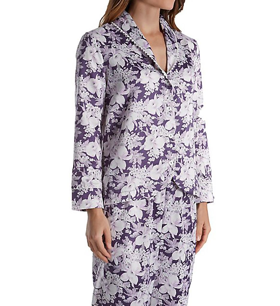 Carole Hochman Blooming Brushed Back Satin Long Pajama Set 181253F
