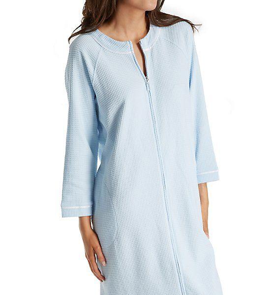 Carole Hochman Waffle Knit Short Zip Robe 1841004