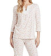 Carole Hochman Embroidered Long PJ Set 1891221
