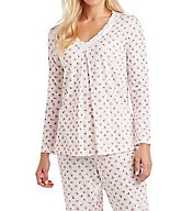 Carole Hochman Holiday Bouquet Long PJ Set 1891262