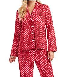 Carole Hochman Holiday Bouquet Flannel Pajama Set 1891263