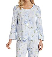 Carole Hochman Knits Top and Long Pant PJ Set 1891411