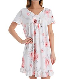 Carole Hochman Blossom Short Sleeve Cotton Short Gown CH21802