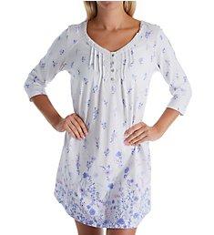 Carole Hochman Lilac 3/4 Sleeve Cotton Short Gown CH21804