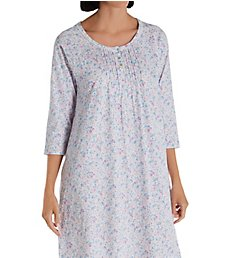 Carole Hochman 100% Cotton 3/4 Sleeve Sleepshirt CH22003