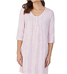 Carole Hochman Pink Ditsy Cotton 3/4 Sleeve Sleepshirt CH31901