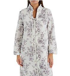 Carole Hochman Diamond Quilt Long Zip Robe CH41850
