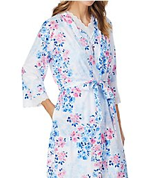 Carole Hochman Watercolor Floral Short Wrap Robe and Gown Set CH61750