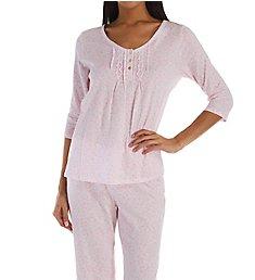 Carole Hochman Pink Ditsy 3/4 Sleeve PJ Set CH71901