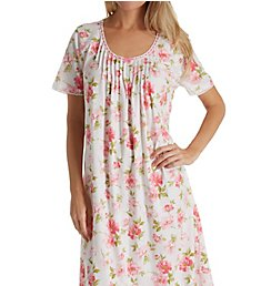 Carole Hochman Soft Spring Short Sleeve Long Gown CH81501