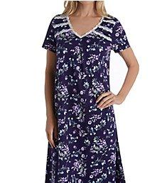 Carole Hochman Blue Floral Long Gown CH81603