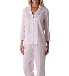 Carole Hochman Soft Spring Button Front Long PJ Set CH91501