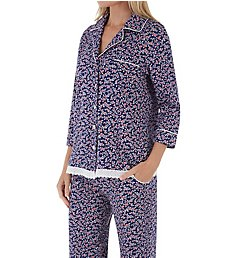 Carole Hochman Cherry Bloom Floral Long PJ Set CH91600