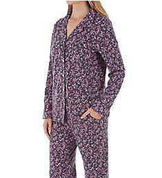 Carole Hochman Summer Bloom Long Sleeve & Long Pant PJ Set CH91605