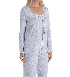 Carole Hochman Lilac Vine Floral Long Sleeve Long Pant PJ Set CH91655