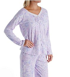 Carole Hochman Lilac Long Sleeve & Long Pant Cotton PJ Set CH91804