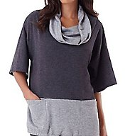Carole Hochman Midnight Lounge Drawstring Top 1331106