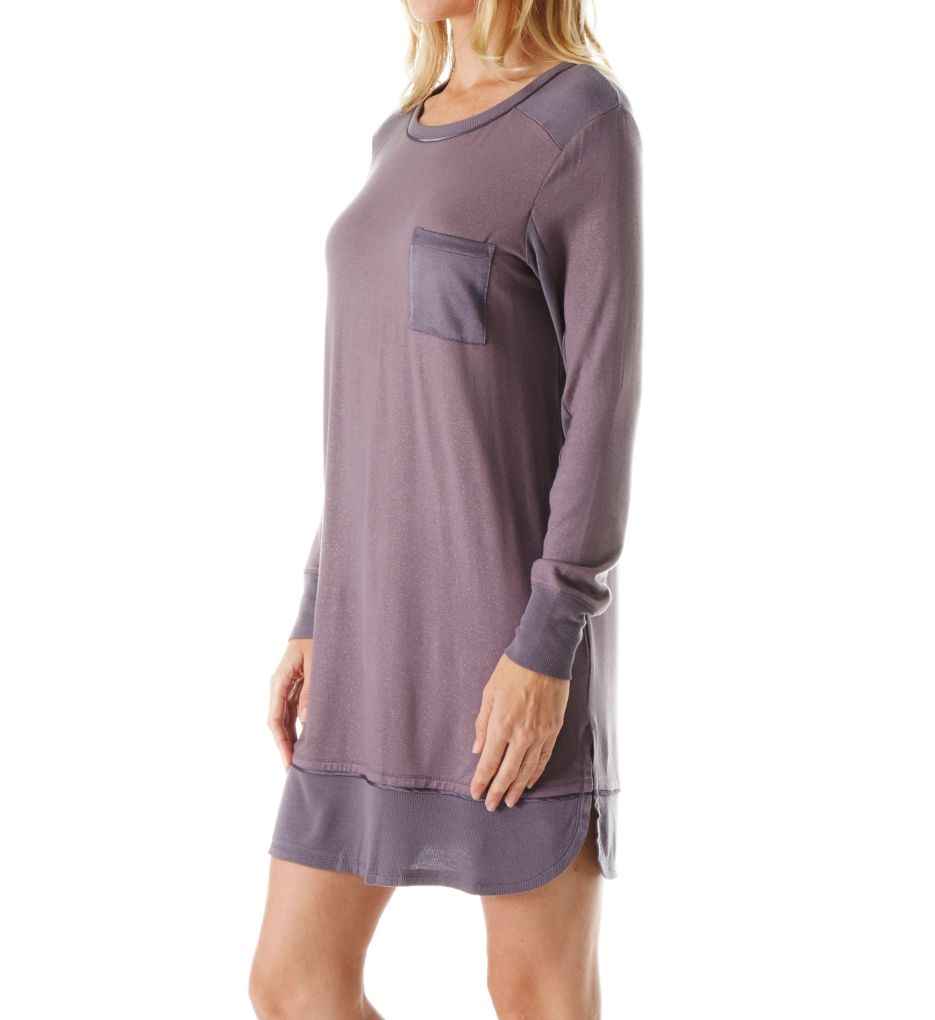 Carole Hochman Midnight In the Moment Long Sleeve Sleepshirt 1331255F
