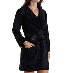 Carole Hochman Midnight Sheared Plush Short Robe 1341261