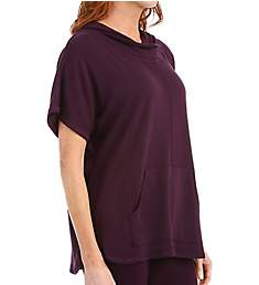 Carole Hochman Midnight Lounge Capsule Sweater Knit Poncho 1361059