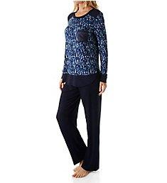 Carole Hochman Midnight In the Moment Long Sleeve Pajama Set 1391255F
