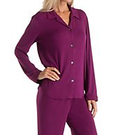 Carole Hochman Midnight Winter Berry Long Sleeve Pajama Set 1391464