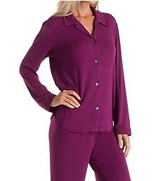 Carole Hochman Midnight Winter Berry Long Sleeve Pajama Set 1391464