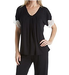 Carole Hochman Midnight Midnight Dreams Lace Capri Pajama Set 1391465