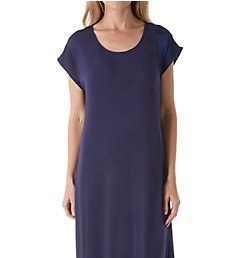 Carole Hochman Midnight Moonlight Orchid Short Sleeve Long Gown MD01601