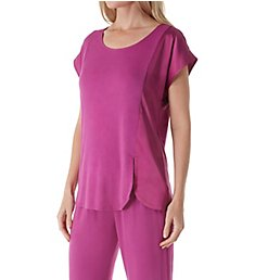 Carole Hochman Midnight Moonlight Orchid Short Sleeve Capri Pant PJ Set MD11601