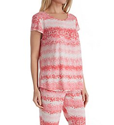 Carole Hochman Midnight Summer Dye Short Sleeve Long PJ Set MD91550