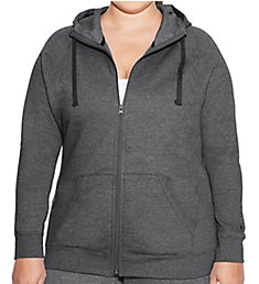 Champion Plus Size Fleece Full Zip Hoodie Jacket QJ4853
