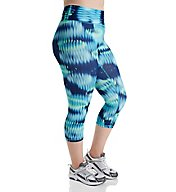 Champion Absolute Plus Size Print Capri with SmoothTec Band QM979P