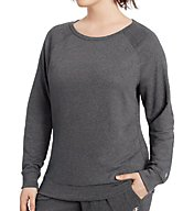Champion Plus Size Long Sleeve Boatneck Crew Top QW1239
