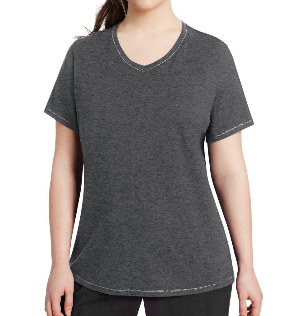 Champion Vapor Plus Size Cotton V-Neck Short Sleeve Tee QW1244