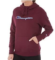 Champion Powerblend Fleece Pullover Hood w/ Applique Jacket W0934F
