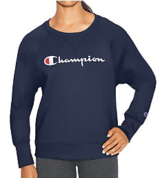 Champion Fleece Graphic Boyfriend Long Sleeve Crew W2956G