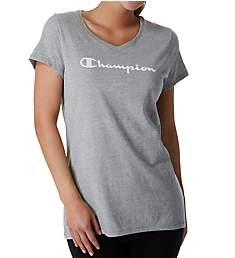 Champion Jersey V-Neck Short Sleeve Graphic Tee W5006G